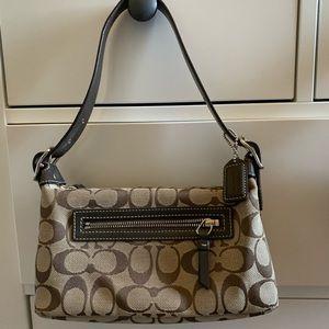 Mini brown coach signature purse